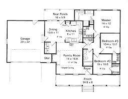 country style house plan 3 beds 2 00 baths 1253 sq ft plan 41 105