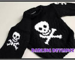 skull sweater skull sweater etsy