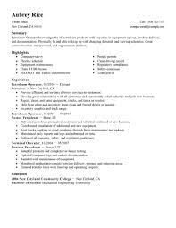 Sample Resume For Assembly Line Operator by Best Petroleum Operator Resume Example Livecareer