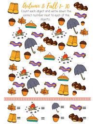 free i spy autumn printable counting numeracy 1 to 10