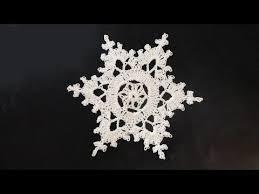 how to crochet snowflakes