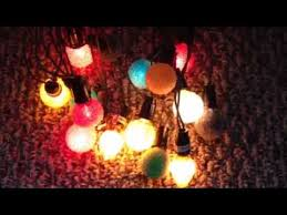 Antique Christmas Lights Antique C 6 Twinkling Iced Christmas Lights Youtube
