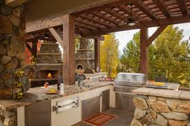 rustic outdoor kitchen captainwalt com french country kitchen rustic kitchen with steel appliances