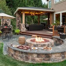 Garden Firepit 30 Patio Design Ideas For Your Backyard Oven Paradise And Pizzas