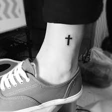 foot cross tattoo simple design tattoo designs pinterest