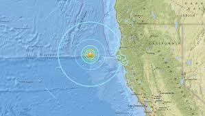 Earthquake Map Oregon by Magnitude 6 5 Earthquake Strikes 100 Miles Off Northern California