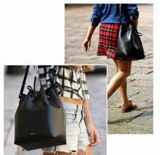 mansur gavriel bucket bag women pu leather string shoulder bag
