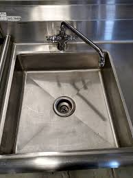 shallow kitchen sink sanisafe shallow veggie sink with right side drain board 16g304ss