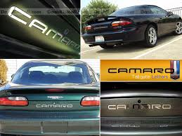 chevrolet corvette c4 1984 1990 front rear bumper letters