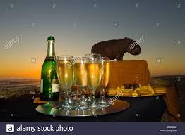 sundowner cocktail party at sunset on the skeleton coast