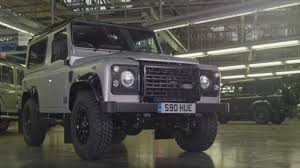 original land rover final land rover defender to roll off production line central