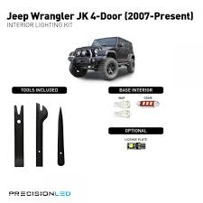 jeep interior lights jeep wrangler jk premium led interior lighting package 2015 2014