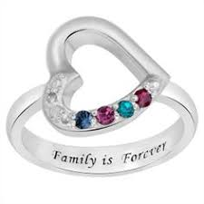 4 mothers ring buy sterling silver s running hearts birthstone ring at