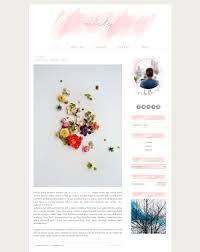 Lifestyle Blog Design Premade Blogger Template Pink Blog Design Pastel Blog