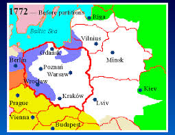 russia map before partition 5 map 1772 before partitions