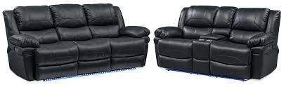 Brown Leather Recliner Sofa Set Black Leather Reclining Loveseat Black Bonded Leather Reclining