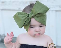 baby headwrap olive green headwrap etsy