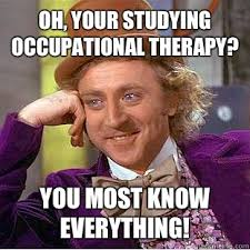 Occupational Therapy Memes - oh your studying occupational therapy you most know everything
