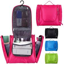 Hanging toiletry bag for makeup cosmetic travel toiletries