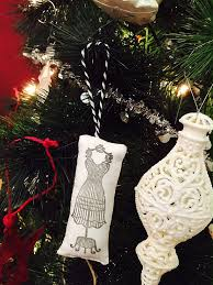 scandinavian fabric ornaments