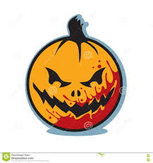 halloween scary bloody jack o lantern pumpkin stock vector image