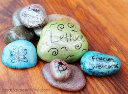kid craft how to make fairy rocks for your garden creative