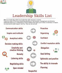 Sample Resume Hospitality Skills List by Best 25 Leadership Skills List Ideas On Pinterest Leadership