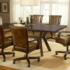 dining table with caster chairs round kitchen table with rolling chairs http sodakaustica com