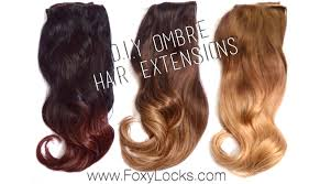 how to d i y ombre hair extensions using home dye kit youtube