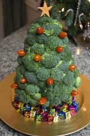 broccoli tree for a christmas vegetable tray