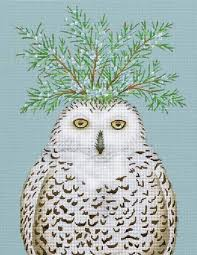 shirley designs painted needlepoint snowy owl