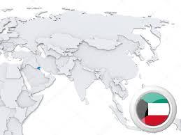 kuwait on a map kuwait on map of stock photo kerdazz7 31347773