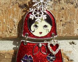 matryoshka ornament etsy