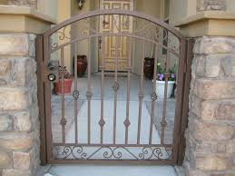 Front Yard Metal Fences - front yard patio landscaping pictures with wrought iron fencing