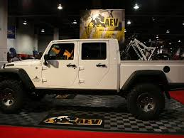 jeep truck conversion sema 2011 aev to debut brute double cab jeep pickup conversion in