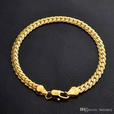 gold man bracelet images 2018 men gold bracelets hot sale 5mm link chain bracelet for man jpg