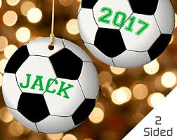 Soccer Ornaments To Personalize Soccer Gift Idea Etsy