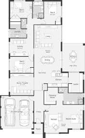 home design hamptons floor plan house floorplans best l shape