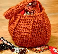 halloween pumpkin bag free crochet halloween bag patterns great for trick or treating