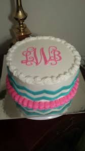 monogrammed cake with chevron my cakes monogram
