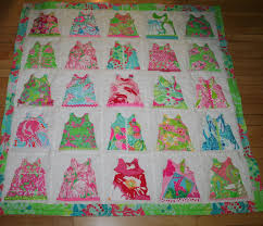 baby shift dress quilt made with lilly pulitzer fabric