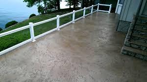 Stain Existing Concrete Patio by Tuscan Slate Decorative Concrete Overlay Lakeside Patio Lake Ozark