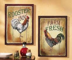 french country kitchen rooster motif rustic rooster and hen