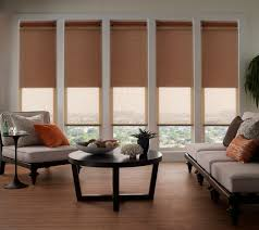 Window Covering Ideas For Large Picture Windows Decorating Curtains Blackout Roman Shades With Long Sofa And Large Windows