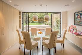slipcovered dining chairs dining room contemporary with