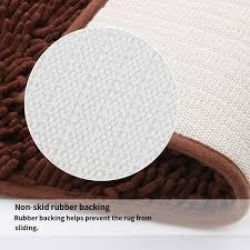 vdomus microfiber bathroom contour rugs combo set of 2 soft
