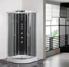 premier opus quadrant shower cabin 800mm x 800mm carbon black flus