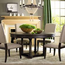 furniture remarkable brwon circle kitchen table and chairs set