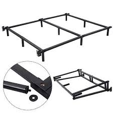 metal queen bed frame with center support frame decorations