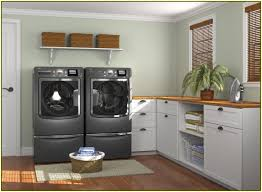 Laundry Room Sinks With Cabinets by Decorating Small Ikea Laundry Room With Twin Wooden Floating